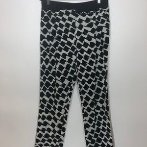 DEREK LAM CROSBY Abstract Silk Casual Pants